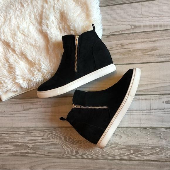 Madden Girl Piper Wedge Sneakers Black